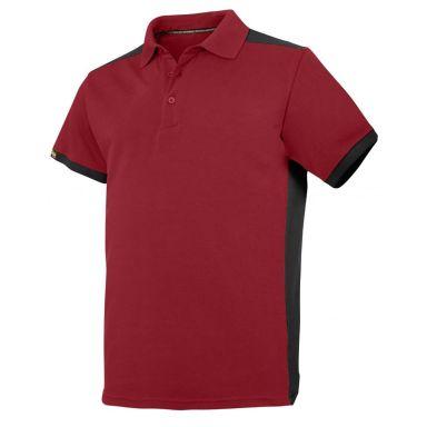 Snickers 2715 Pikéskjorte rød/svart