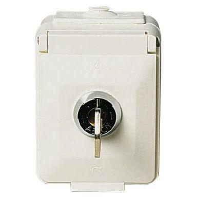Schneider Electric Aqua Stark PV Vägguttag 1-vägs, lås
