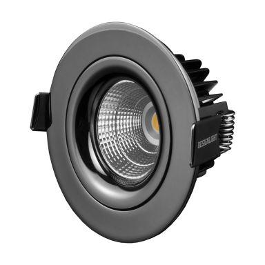 Designlight P-1602530GC Downlight 7 W, gråsvart