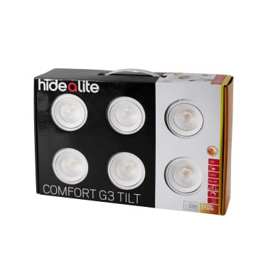 Hide-a-Lite Comfort G3 Tilt Downlight vit, 6-pack