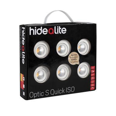 Hide-a-Lite DL Optic S Quick Alasvalo 6-pakkaus, valkoinen
