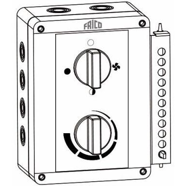Frico ELSRT Betjeningspanel med termostat for ELC, ELV