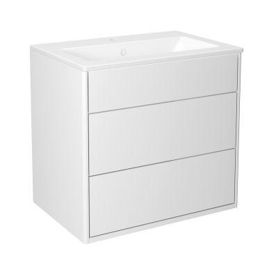 Gustavsberg Graphic Kommodpaket slät, vit, 60 cm
