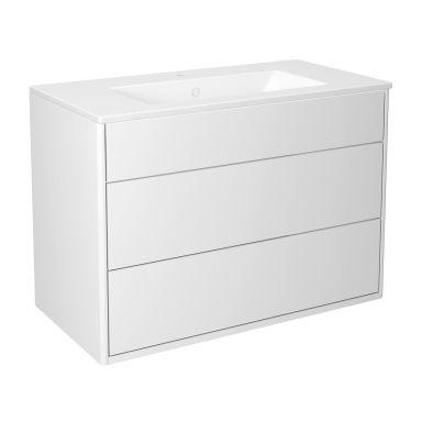 Gustavsberg Graphic Kommodpaket slät, vit, 80 cm