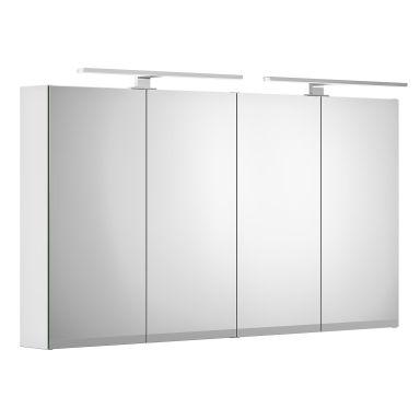 Gustavsberg Artic Spegelskåp vit, med LED-belysning, 120 cm