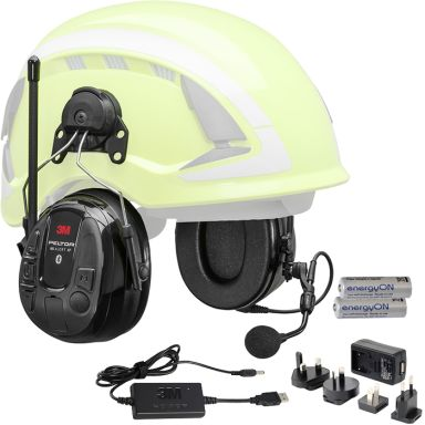 3M Peltor WS Alert XP Hörselskydd Bluetooth med hjälmfäste laddpaket