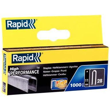 Rapid Nr 28 Bredtrådskabelklammer Stål