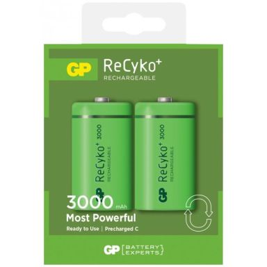 GP Batteries ReCyko C 3000 Laddbara batterier 2-pack