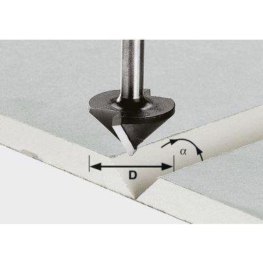 Festool HW S8 D32/90° Gipskartongfräs 8mm spindel