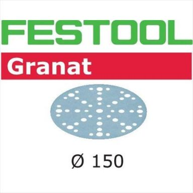Festool STF GR Slippapper 150mm, 48-hålat, 10-pack P180