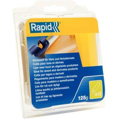 Rapid 40107360 Liimapuikot Puu, 125 g,  Ø12x94 mm