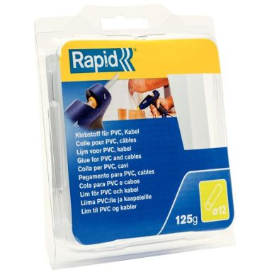 Rapid 40107358 Liimapuikot PVC/kaapeli, 125 g,  Ø12x94 mm