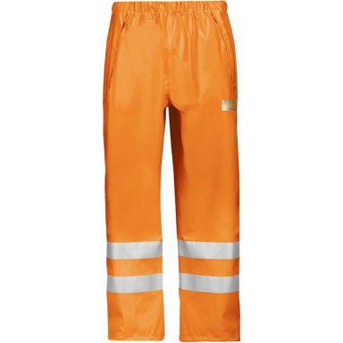 Snickers 8243 Regnbukse varsel, oransje
