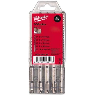 Milwaukee M2 4932352338 Vasaraporanteräsarja SDS-Plus, 2-särmäinen, 5 osaa