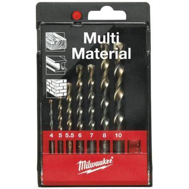 Milwaukee Multi Material 4932352836 Yleisporasarja pyöreä kiinnike, 7 osaa