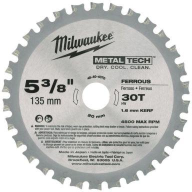 Milwaukee 48404070 Sagklinge 135x20mm, 30T