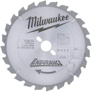 Milwaukee 4932352138 Sagklinge 250x3,2x30mm, 24T