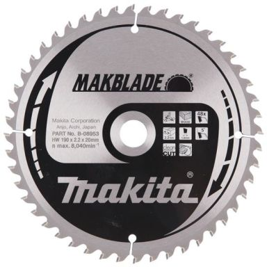 Makita B-08953 Sahanterä 190x20mm, 48T