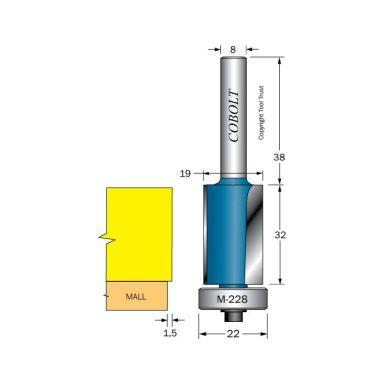 Cobolt 205-024-M228 Kantfräs med kullager för grovprofilering