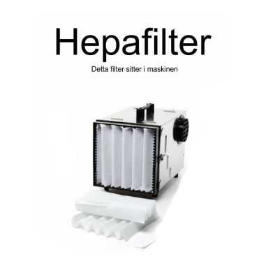 Dustcontrol 42692 HEPA-filter cellulosa, glasfiber