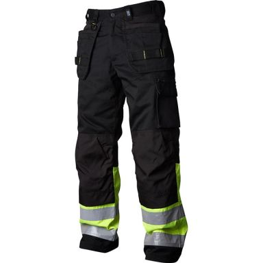 Vidar Workwear V500451D108 Håndverksbukse svart/gul