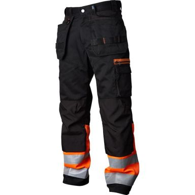 Vidar Workwear V500452D108 Håndverksbukse oransje/svart
