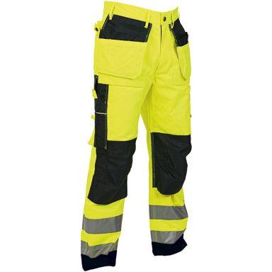 Vidar Workwear V500115C058 Hantverksbyxa gul/svart