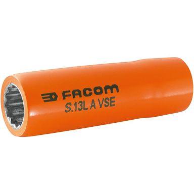"""Facom S.12LAVSE Hylsa 12mm, 1/2"""", 12k, 1000V, lång"""
