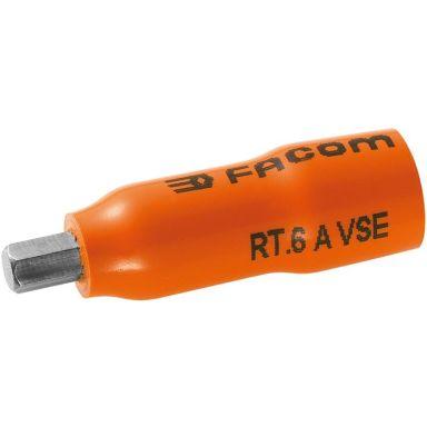 """Facom RT.4AVSE Bitshylsa 6-kants, 4mm, 1/4"""", 1000V"""