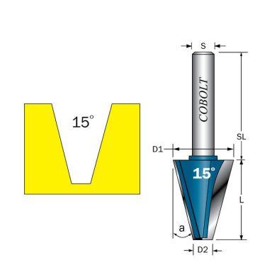 Cobolt 209-150B Viisteytysjyrsin L=29, D=22