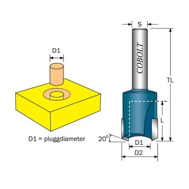 Cobolt 270-012 Pluggfräs D=12 S=8