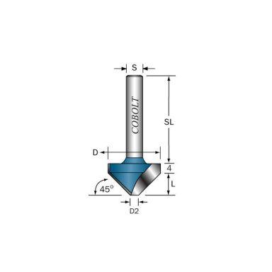 Cobolt 109-453 V-spårfräs