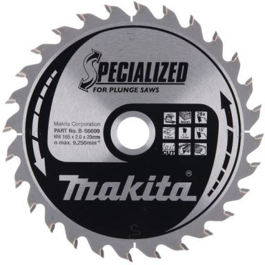 Makita B-56699 Sagklinge 165x20 mm, 28T