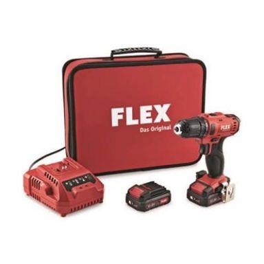 Flex DD 2G 10,8-LD Borskrutrekker med 2,5Ah batterier og lader