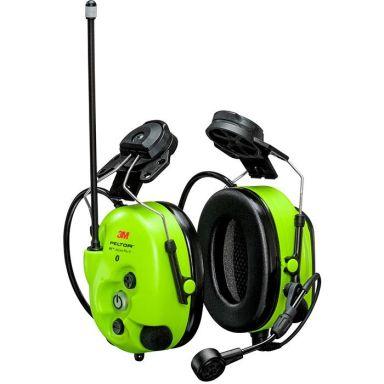 3M Peltor WS LiteCom III Hörselskydd med hjälmfäste, Bluetooth, Hi-Viz