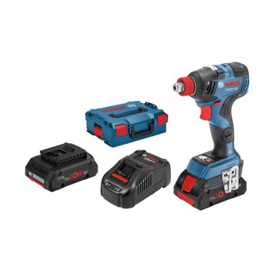 Bosch GDR 18V-200 C Mutterdragare med L-BOXX, batterier och laddare