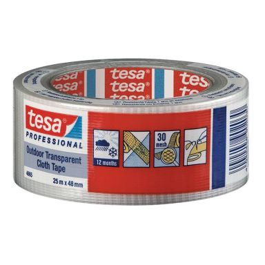 Tesa 4665 Vävtejp transparent, UV-resistant, 25 m x 48 mm