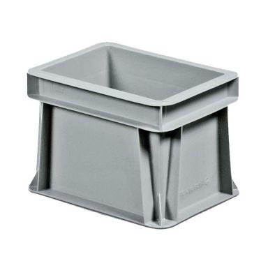 Schoeller Allibert Euroback 6496 Transportlåda grå, utan handtagshål