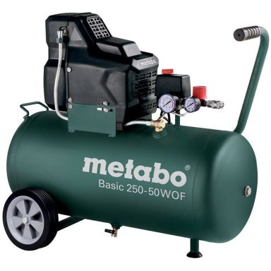 Metabo Basic 250-50 W OF Kompressor med påfyllingskapasitet 120 l/min, 50 l