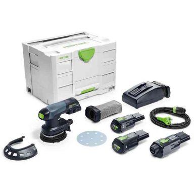 Festool ETSC 125 Li 3,1 I-Set Excenterslip med nätadapter, batterier och laddare