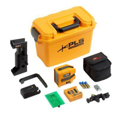 PLS 6G SYS Korslaser grön, med lasermottagare och tillbehör
