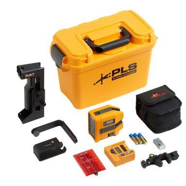PLS 6R SYS Korslaser röd, med lasermottagare och tillbehör