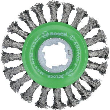 Bosch Heavy for Inox Stålborste med X-LOCK, virad tråd, 0,5 x 115 mm