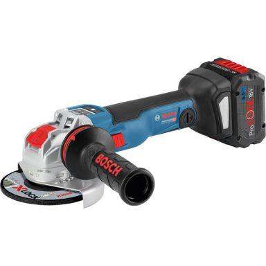 Bosch GWX 18V-10 SC Vinkelslip med X-LOCK, 8,0Ah batterier och laddare