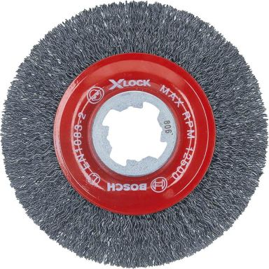 Bosch Clean for Metal Stålborste med X-LOCK, vågformad tråd, 0,3 x 115 mm