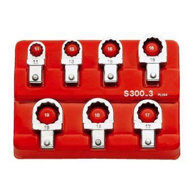 Facom J.300-3 Ringnyckelsats 7 st, 9x12 mm