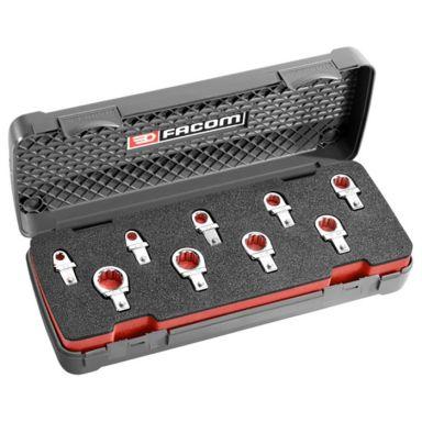 Facom 12.J9U Ringnyckelsats 9 x 12 mm, med insticksfäste