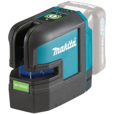 Makita SK106GDZ Krysslaser grønn, uten batteri og lader