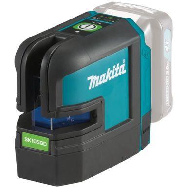 Makita SK105GDZ Krysslaser grønn, uten batteri og lader