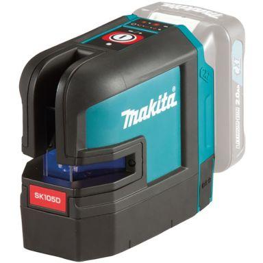 Makita SK105DZ Krysslaser rød, uten batteri og lader